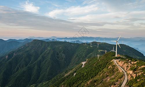 括苍山发电风车图片
