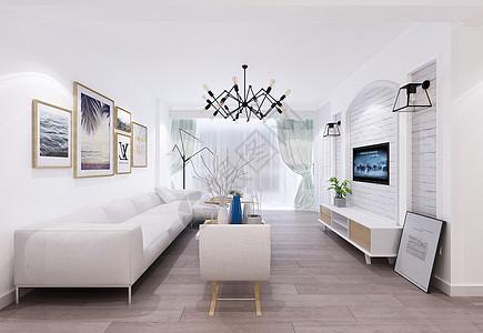 北欧风格客厅效果图图片