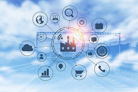 智能工厂与货运数据技术图片