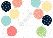 节日气球背景图片