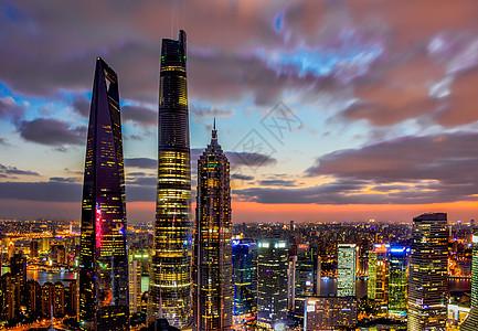 上海日落图片