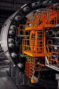 盾构背后的复杂楼梯图片
