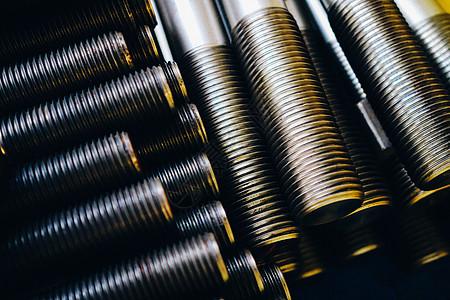 金属光影的螺栓图片