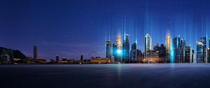 眩光科技城市背景图片