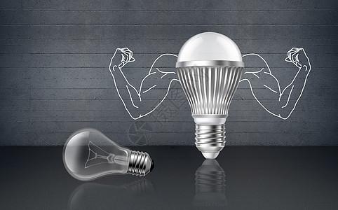 灯泡能量图片