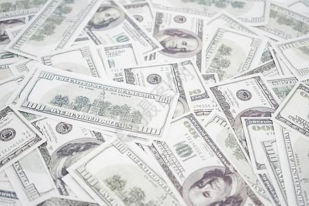 一堆美元钞票图片