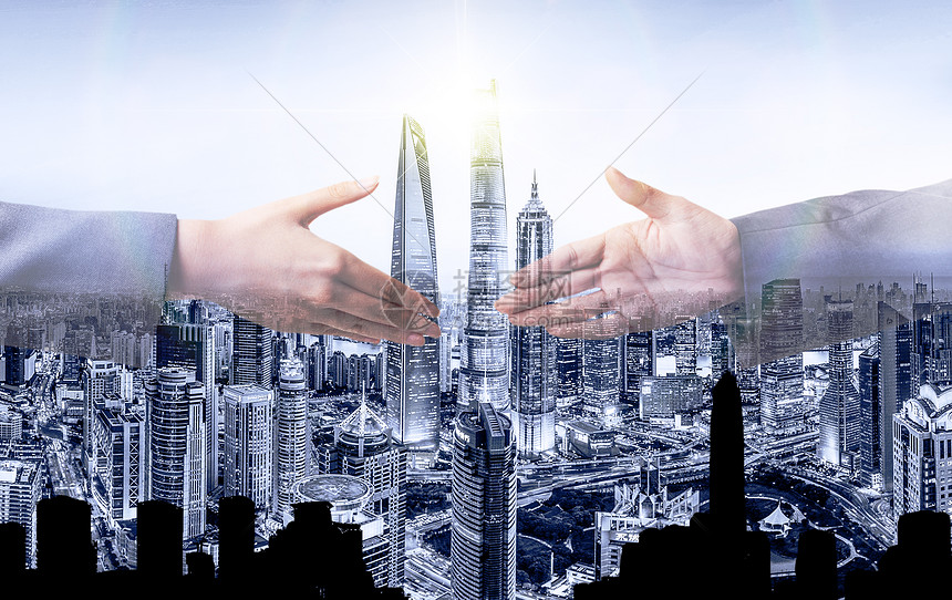 商业合作握手图片
