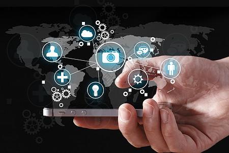 手机数据全球化图片