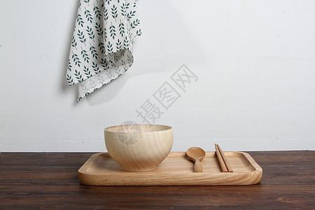 日式木质盘子咖啡厅托盘淘宝素材图片