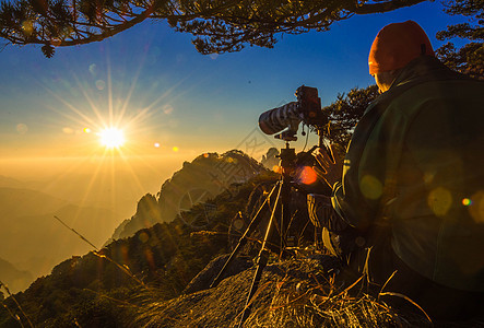 山峰拍摄的摄影师图片