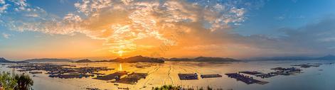 日落时分,海上风光图片
