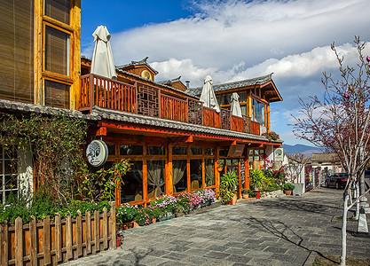 大理古城的咖啡店图片