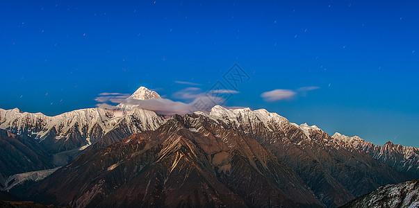 星空下的贡嘎雪山图片