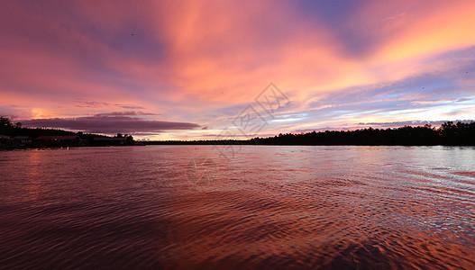 马来西亚傍晚日落云彩图片