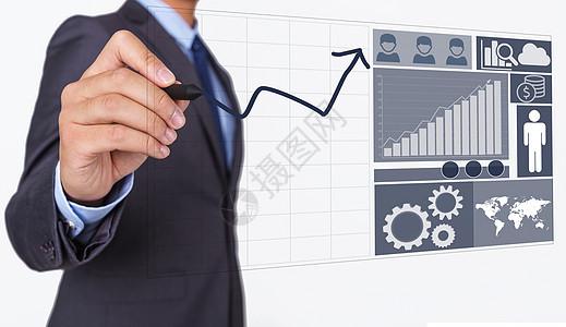 商业经济信息走势图片
