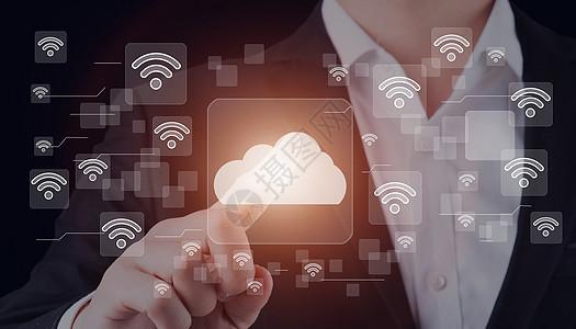 社交网络Wifi业务按钮云图标图片