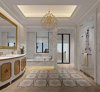 卫生间室内设计效果图图片
