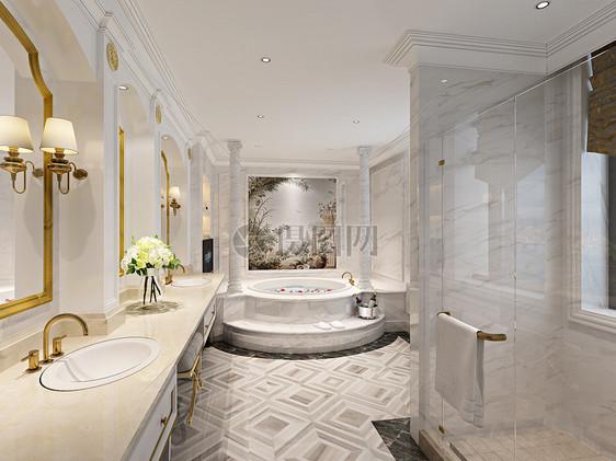 浴室室内设计效果图图片