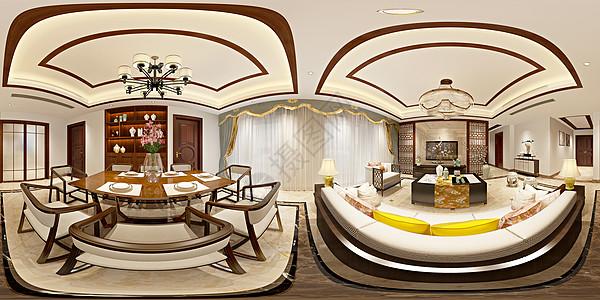 新中式风格餐厅室内设计效果图图片