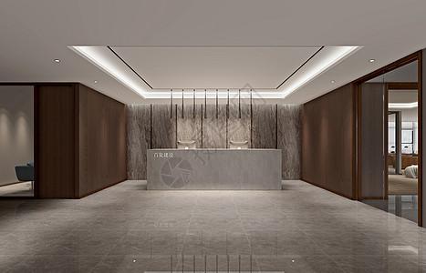 公司前台大厅室内设计效果图图片