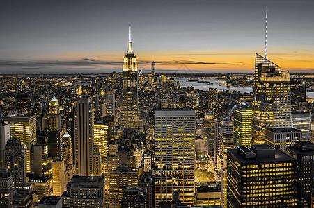 纽约黑金风景图片