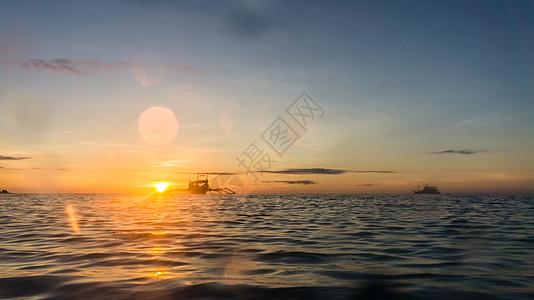 长滩岛夕阳图片