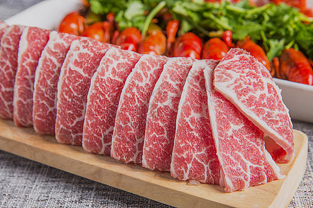 澳洲雪花牛肉片图片