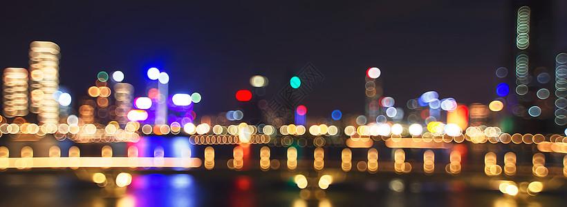 梦幻夜景灯斑图片