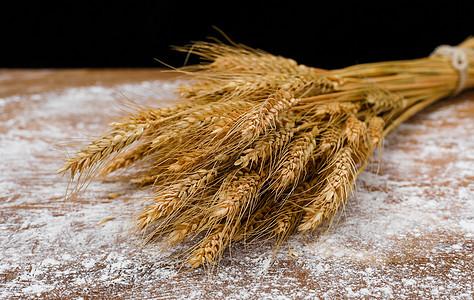 小麦和面粉图片