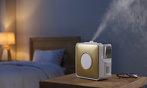 卧室空气净化器静物图片