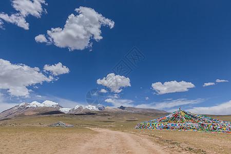 青藏线越野车道路背景图图片