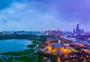 武汉汉阳月湖风景区全貌接片图图片