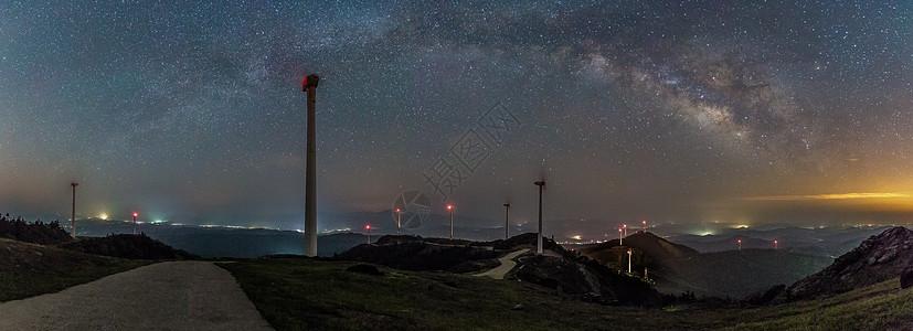 拱形银河全景接片图片