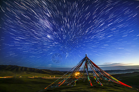 青海湖星空图片