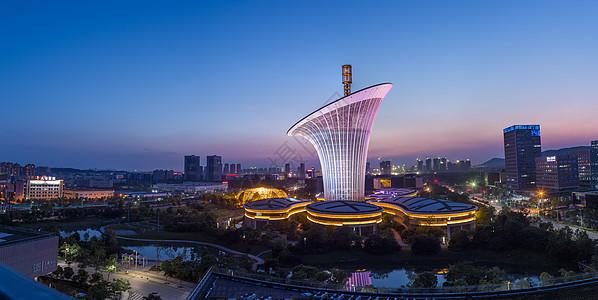 城市建筑夜景美图图片