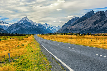 秋天,沿着公路去库克山看看图片