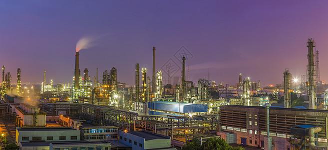 工厂夜景美图图片