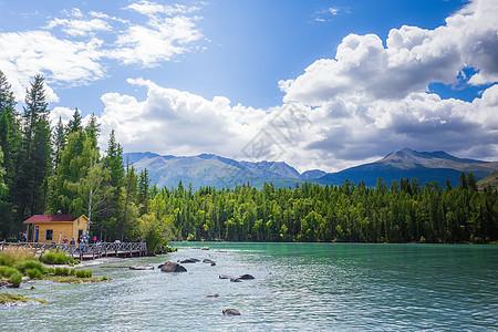 新疆喀拉斯湖景区美图图片