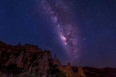 浪巴铺土林的银河图片