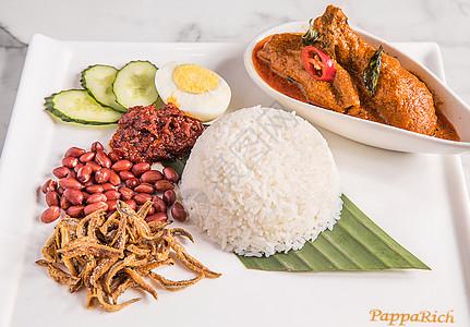 东南亚风味鸡腿盖饭图片