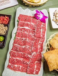 顶级雪花涮牛肉图片