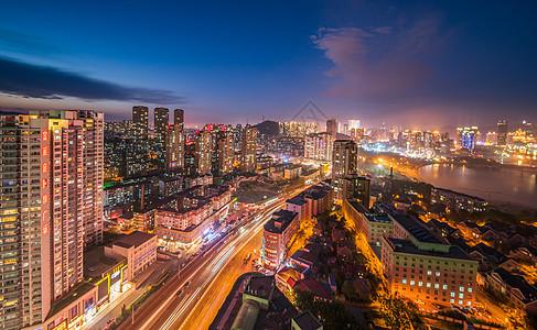 现代城市大连夜色图片