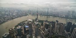 上海中心俯瞰图片