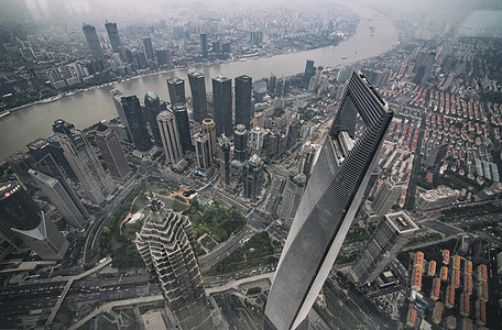 上海中心鸟瞰图片