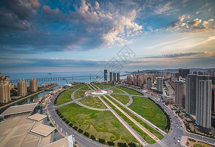大连星海广场俯瞰图片