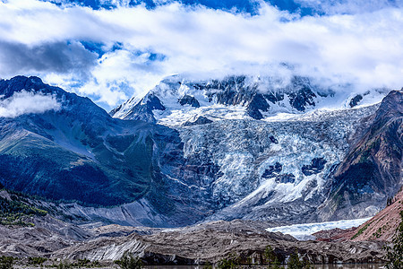 米堆冰川图片