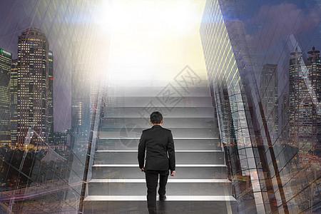 商业  商务  上楼梯的人图片