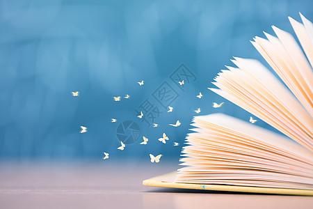 书本里飞出的蝴蝶图片