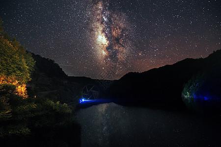 银河倒影图片