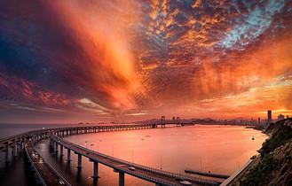 城市建筑跨海大桥图片